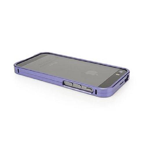 CAPDASE Alumor Bumper Case for Apple iPhone 5/5S [MBIH5-00QQ] - Dark Purple - Casing Handphone / Case